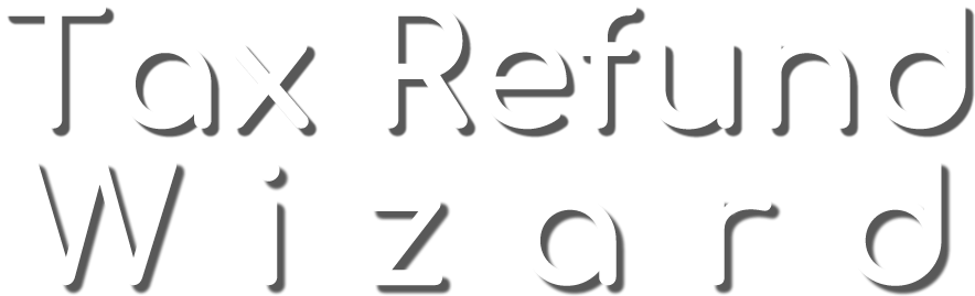 Tax Refund Wizard Logo White Text smaller